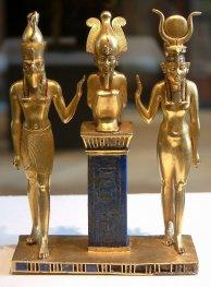 Egypte Louvre - Triade divina Horus Osiride ed Iside